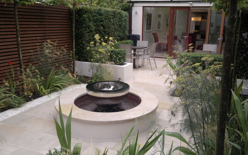 David Harber Water Feature Garden Design And Build By Landscaping Solutions