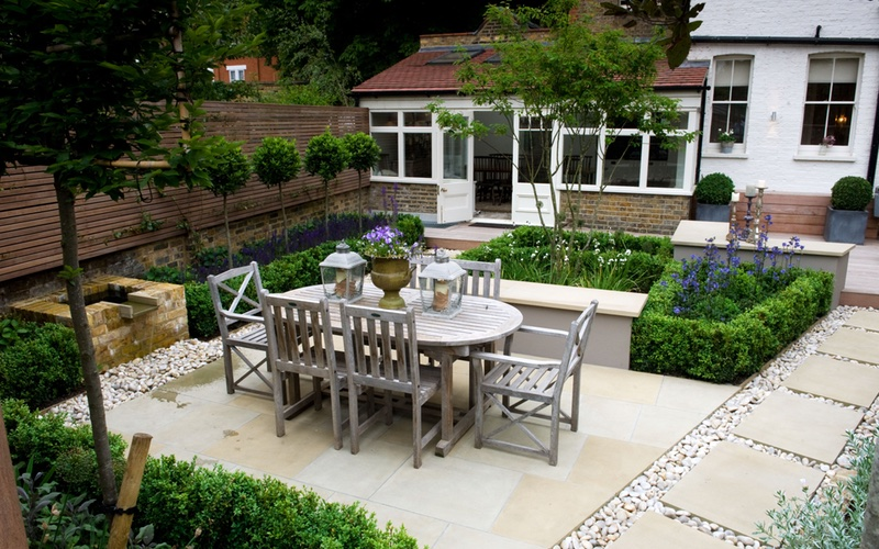 Barnes, London garden design by Landscaping Solutions.