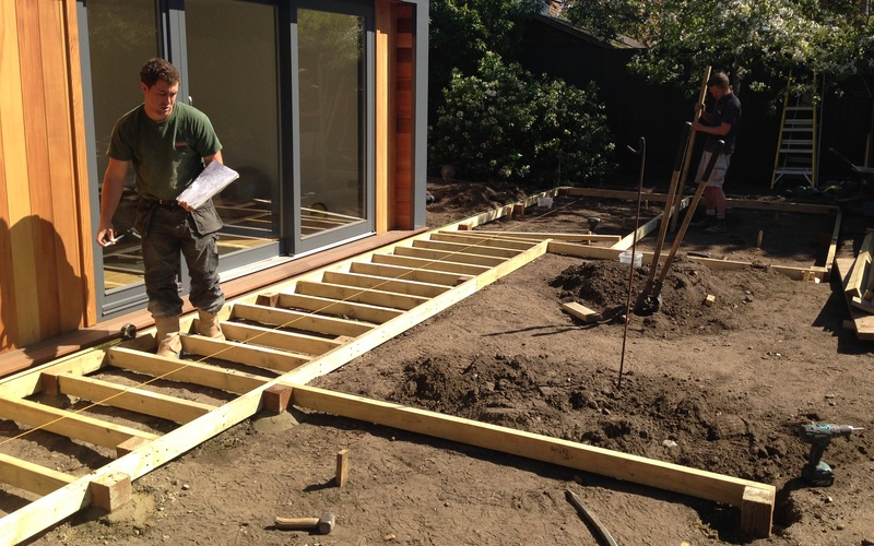 Landscaping Solutions Garden Design Richmond, Surrey Build In Progress