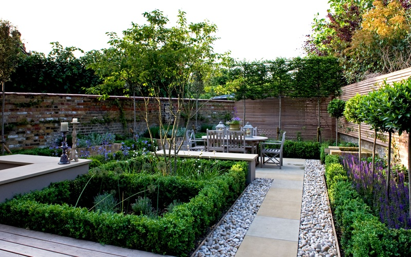 Landscaping Solutions precise planting for formal garden design.