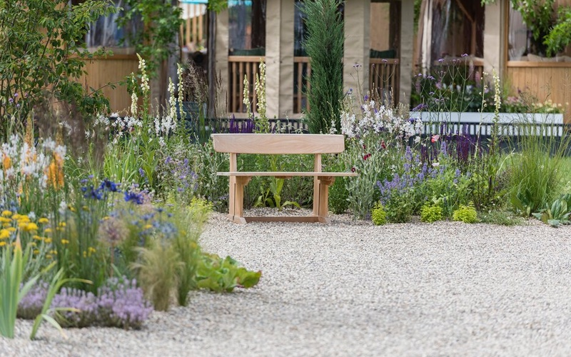 Drought Tolerant Garden, Designed by David Ward. RHS Hampton Court Palace Garden.